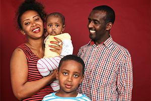 Bild Familie im Gruppenportrait