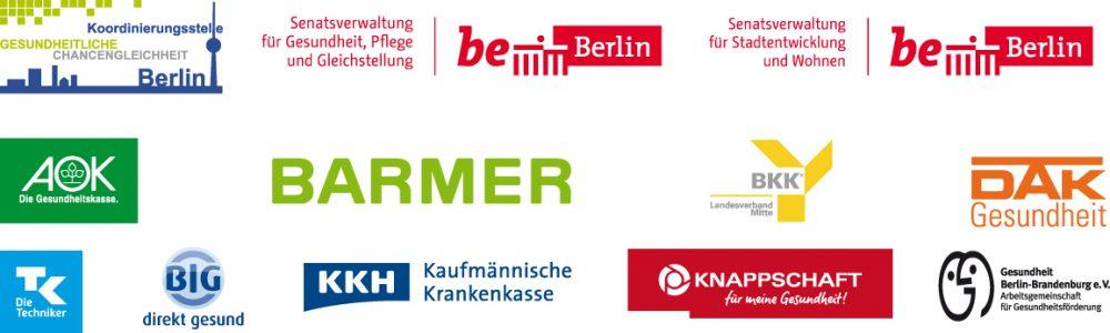 Grafik: diverse Logos o. g. Träger neben- und untereinander angeordnet