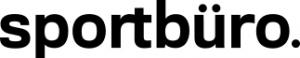 Grafik: Sportbüro. in schwarzer Druckschrift vor weißem Hintergrund